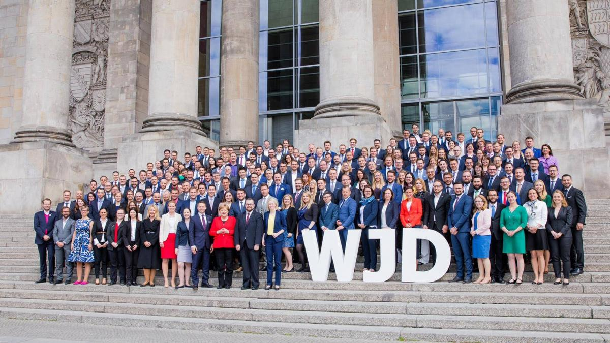 Tim took part in the WJD Knowledge transfers with chancellor Merkel