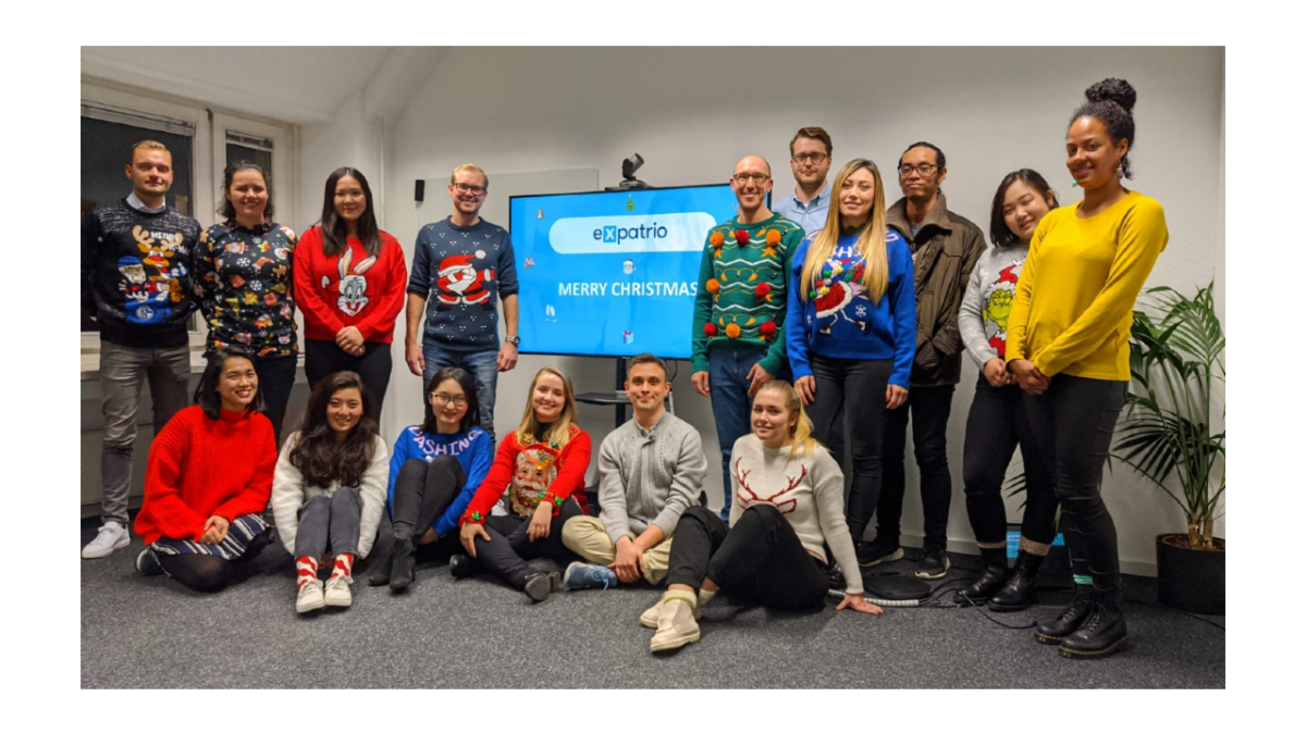Expatrio team ugly sweater Christmas competition
